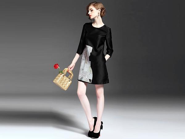 复古连衣裙